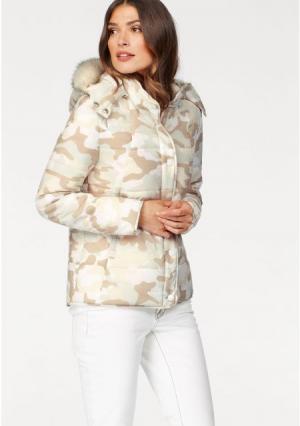 Стеганая куртка Laura Scott. Цвет: цвет белой шерсти/бежевый
