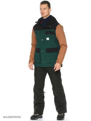Куртка O'Neill. Цвет: зеленый, коричневый