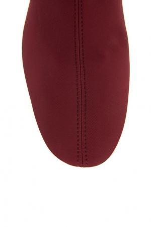 Бордовые ботфорты-чулки Rosbalet. Цвет: красный