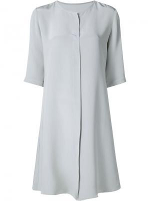 Платье с рукавами три четверти Peter Cohen. Цвет: серый