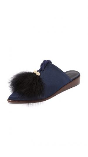 Туфли без задников Sofie Tibi. Цвет: темно-синий