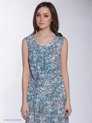 Блузка F5. Цвет: светло-голубой, зеленый, фиолетовый