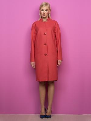 Пальто Pompa. Цвет: коралловый