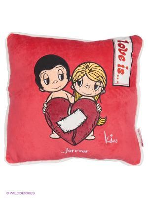 Подушка  Love is... MAXITOYS. Цвет: красный, белый