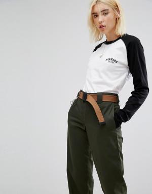 Dickies Oversize-футболка с рукавами реглан и логотипом на груди. Цвет: черный