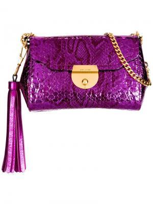 Металлизированная сумка Basic Marc Jacobs. Цвет: розовый и фиолетовый