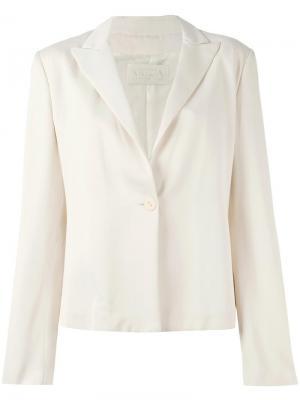 Пиджак с застежкой на пуговицу Krizia Vintage. Цвет: розовый и фиолетовый