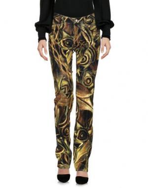 Повседневные брюки 9.2 BY CARLO CHIONNA. Цвет: кислотно-зеленый