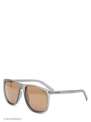 Солнцезащитные очки Polaroid. Цвет: серый, коричневый