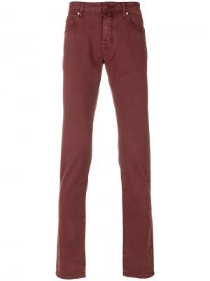 Прямые джинсы средней посадки Jacob Cohen. Цвет: красный