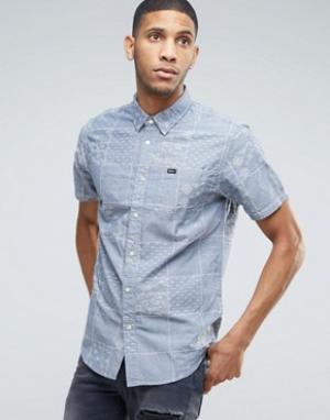 RVCA Рубашка с принтом. Цвет: синий