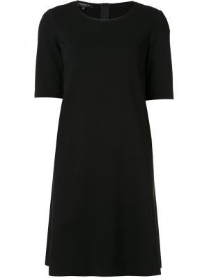 Платье с рукавами три четверти Lafayette 148. Цвет: чёрный