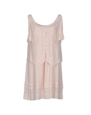 Короткое платье GAT RIMON. Цвет: бежевый