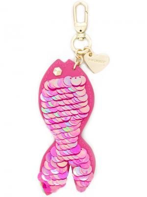Брелок в виде рыбы с пайетками Twin-Set. Цвет: розовый и фиолетовый