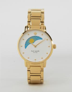 Kate Spade Золотистые часы Gramercy KSW1072. Цвет: золотой