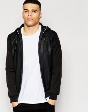 ECLIPSE Куртка-пилот Mix. Цвет: черный