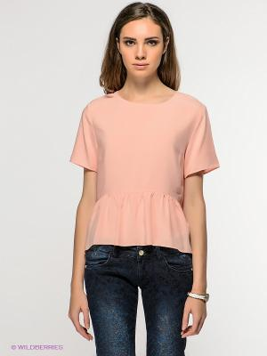 Блузка New Look. Цвет: персиковый