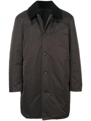 Классическое пальто Jil Sander. Цвет: серый