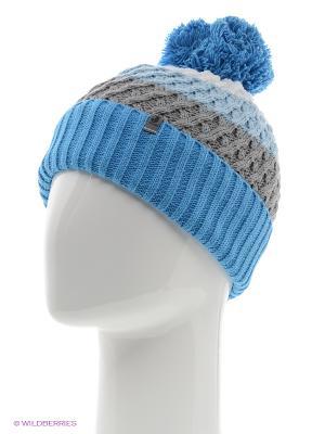 Шапка Jamiks. Цвет: голубой, темно-синий
