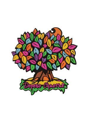 Магнит Дерево Счастья. Цвет: розовый