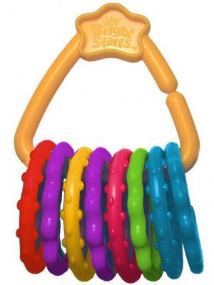 Развивающая игрушка Веселые колечки BRIGHT STARTS. Цвет: желтый, красный, синий, фиолетовый