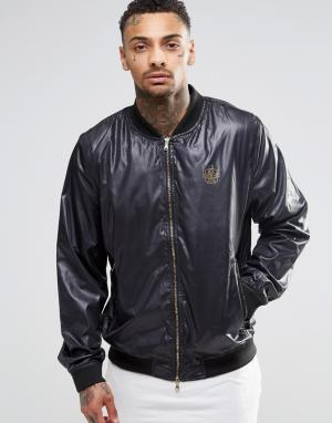 Your Own Черная куртка-пилот с логотипом. Цвет: черный