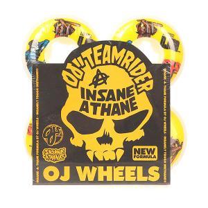 Колеса для скейтборда  Ez Edge Insaneathane Shannon Cop Beater 101A 52 mm Oj. Цвет: белый,желтый