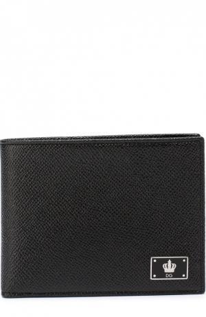 Кожаное портмоне с отделением для кредитный карт Dolce & Gabbana. Цвет: черный