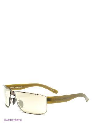 Солнцезащитные очки Porsche Design. Цвет: хаки