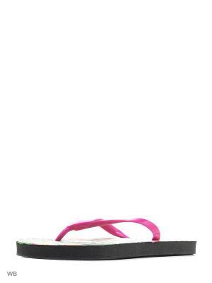 Шлепанцы Modis. Цвет: зеленый, красный, розовый