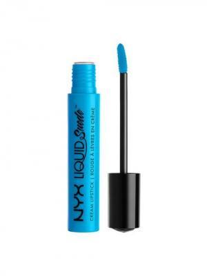 Жидкая губная помада. LIQUID SUEDE CREAM LIPSTICK - LITTLE DENIM DRESS NYX PROFESSIONAL MAKEUP. Цвет: голубой