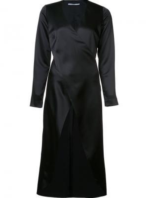 Длинная блузка с перекрещенным дизайном Rosetta Getty. Цвет: чёрный
