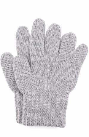 Вязаные перчатки Catya. Цвет: серый