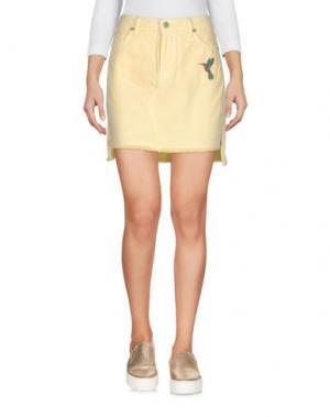 Джинсовая юбка SANDRINE ROSE. Цвет: желтый