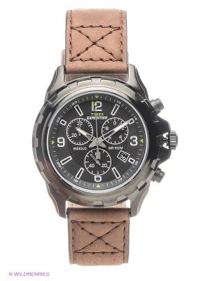 Часы TIMEX. Цвет: коричневый