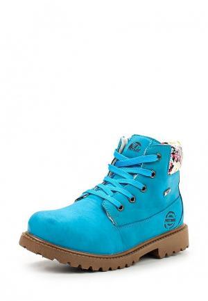 Ботинки Patrol. Цвет: голубой