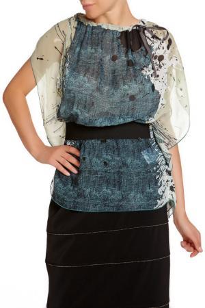Блуза LEIDIRO. Цвет: зеленый
