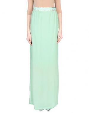 Длинная юбка ELLA LUNA. Цвет: светло-зеленый