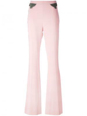 Расклешенные брюки Pardens. Цвет: розовый и фиолетовый