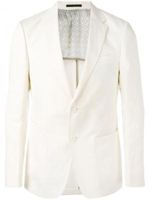 Однобортный пиджак Z Zegna. Цвет: белый