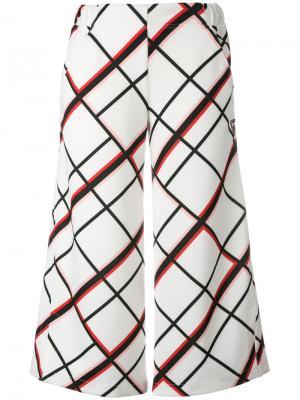 Укороченные брюки Clea Rossignol. Цвет: белый