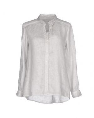 Pубашка 120% LINO. Цвет: светло-серый