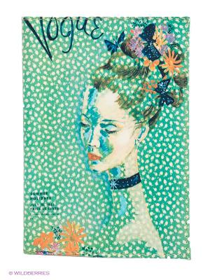 Обложка для паспорта Мадам Mitya Veselkov. Цвет: зеленый