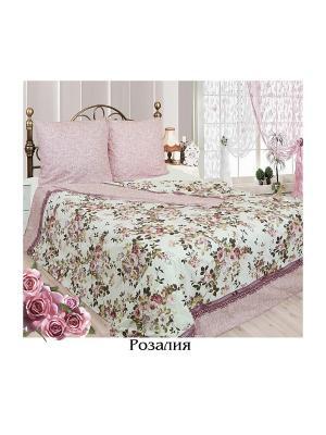 Постельное белье 2 сп. простыня на резинке Sova and Javoronok. Цвет: светло-бежевый, бледно-розовый, белый