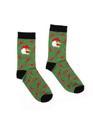 Носки Запорожец. Цвет: зеленый
