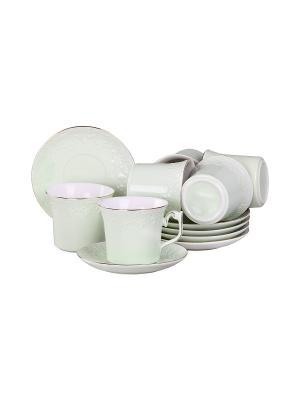 Набор чайный 12 предметов 200 мл. PATRICIA. Цвет: зеленый