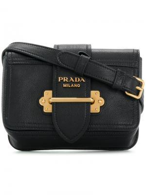 Поясная сумка Cahier Prada. Цвет: чёрный