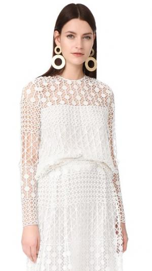 Блуза Northfield с округлым вырезом Novis. Цвет: золотой