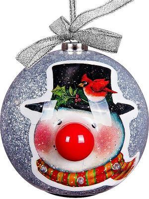 Шар Mister Christmas. Цвет: серебристый