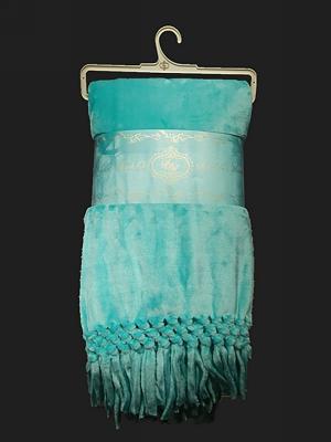 Кисточки (бирюза) Плед 150х200 Sofi de Marko. Цвет: бирюзовый